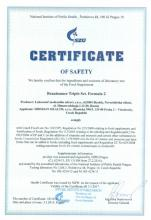Certificate of safety Integratore alimentare Renaissance Triple Set, 180 capsule