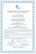 Certificate Siberian Pure Herbs Collection. Extra výživný noční krém (Šemetej), 50 ml