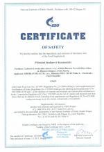 Certificate PIK TOPINAMBUR PULVER