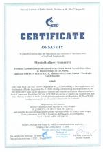 Certificate Topinambur Pulver, 110 g.