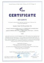 Certificate Suplement diety SynchroVitals VII