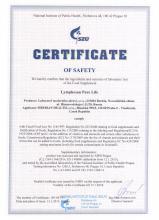 Certificate Doplněk stravy - Lymphosan Pure Life, 90 g