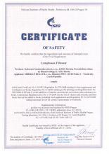 Certificate  NEM Lymphosan F Beauty, 90 g