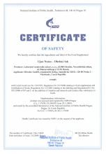 Certificate of safety Food supplement Uyan Nomo. Herbal Tea, 30 filter bags