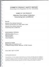 Cocmetic product safety report Siberian Pure Herbs Collection. Vlasový kondicionér pro větší objem vlasů (Oblako), 250 ml