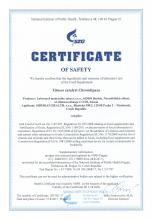 Certificate of safety<br>Fitness catalyst Chromlipaza Suplemento alimentar Fitness catalyst Chromlipaza, 60 cápsulas