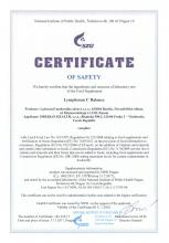 Certificate of safety<br>Lymphosan C Balance Food supplement Lymphosan C Balance, 90 g