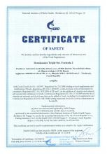 Certificate of safety<br>Renaissance Triple Set. Formula 2 Integratore alimentare Renaissance Triple Set, 180 capsule