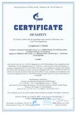 Certificate of safety<br>Lymphosan L Vitality БАД  Lymphosan L Vitality, 90 г