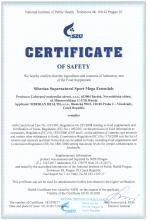 Certificate of safety<br>Siberian Supernatural Sport Mega Essentials Siberian Super Natural Sport Mega Essentials