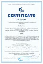 Certificate of safety (en)<br>Baelen Amin Напиток чайный «Бэлэн Амин - Легкое дыхание», 25 фильтр-пакетов