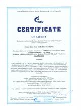 Certificate of safety<br>Elemvitals. Iron with Siberian herbs Doplněk stravy - ElemVitals. Iron with Siberian herbs, 60 kapslí